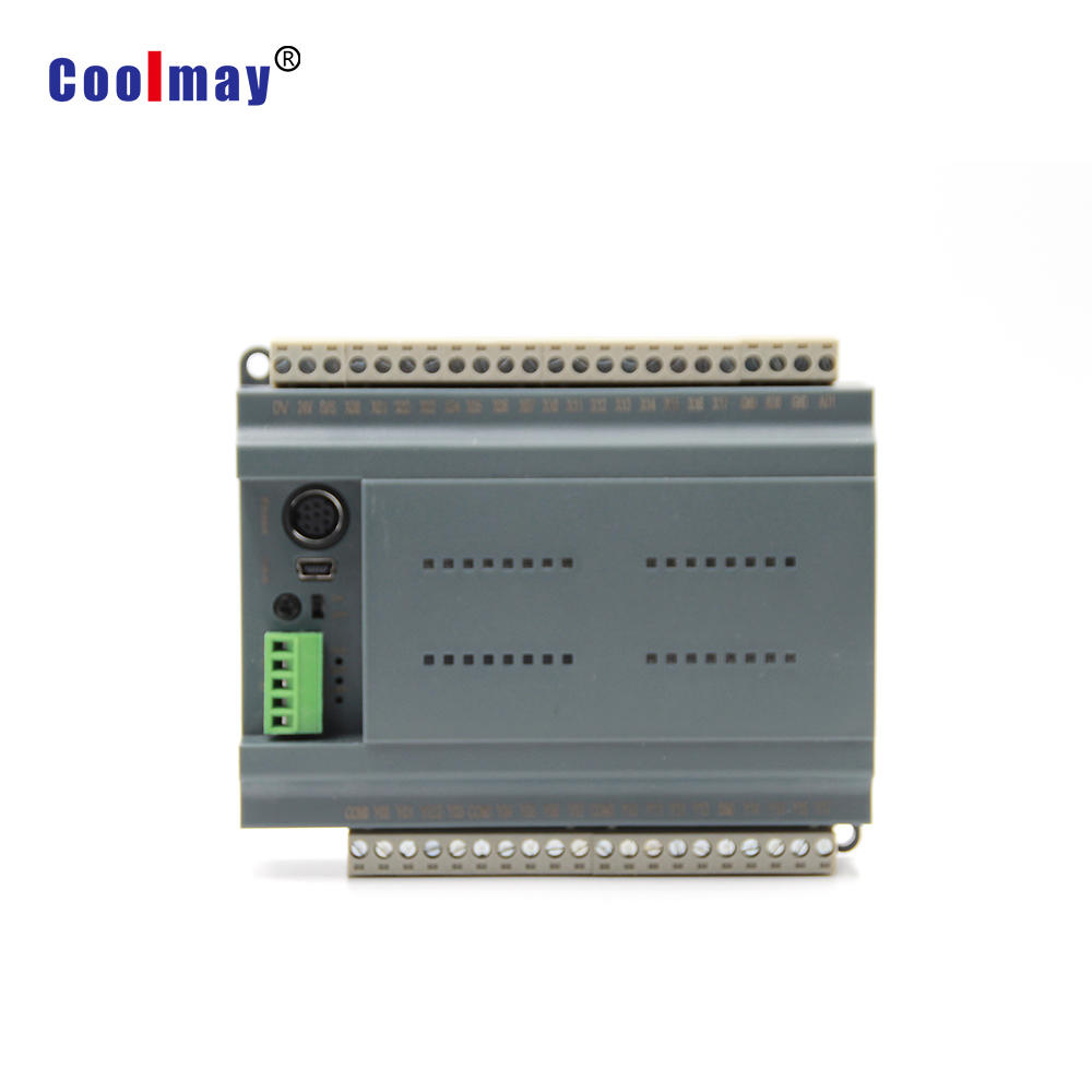 Coolmay good quality Relay output mixed analog 0-10V&4-20mA PLC compatible with Mitsubishi