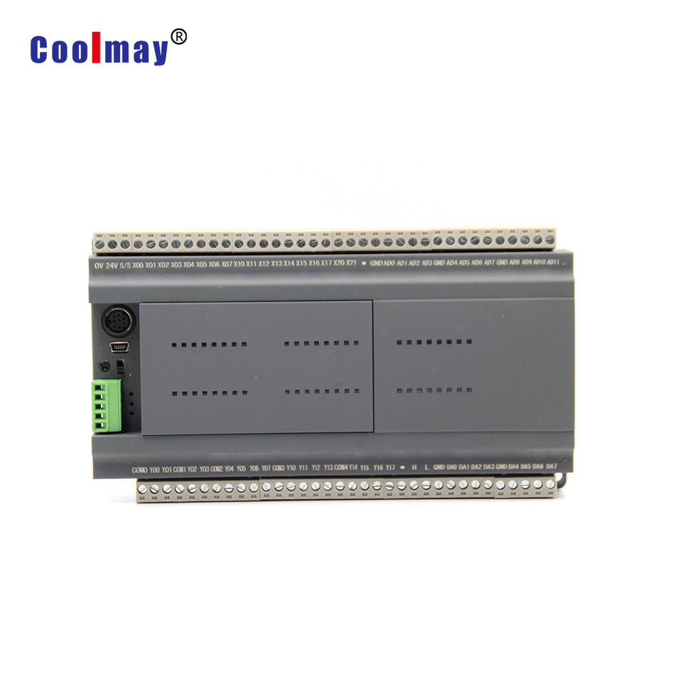 Coolmay Compact PLC CX3G-48MT-4AD2DA-V-V-485/485 used in Injection molding machine control system