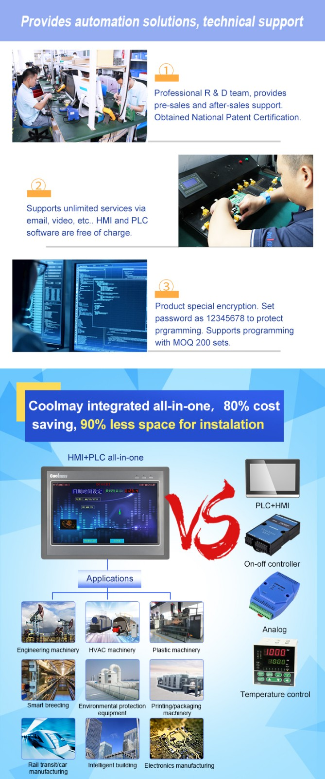 Coolmay High-quality plc computer manufacturers for packaging machinery-5