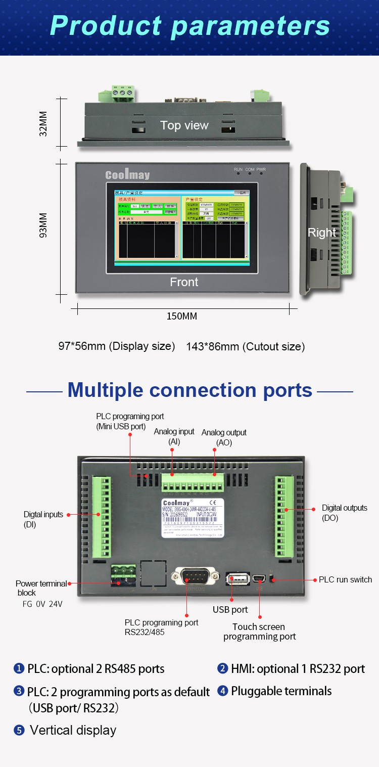 high-speed PLC HMI all in one oem for power equipment-4