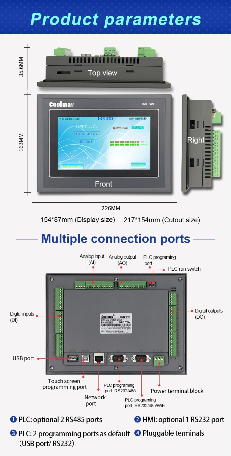 Wholesale cheap plc with display shipped to Europe for packaging machinery-3