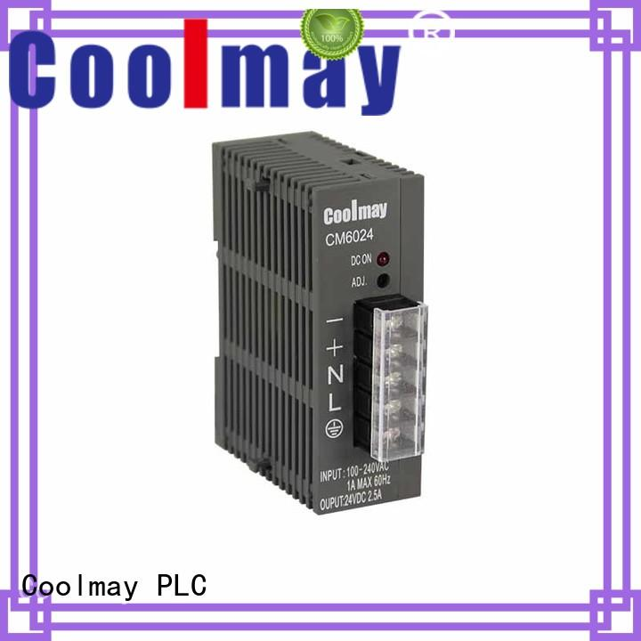 high reliability minimal noise stable performance plc power supply short circuit protection Coolmay