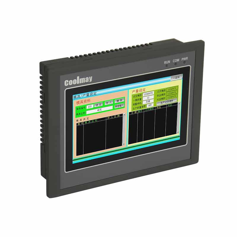Coolmay PLC HMI all in one EX2N-43H(A)-24MRT PLC controller with 4.3 Inch Touch Screen