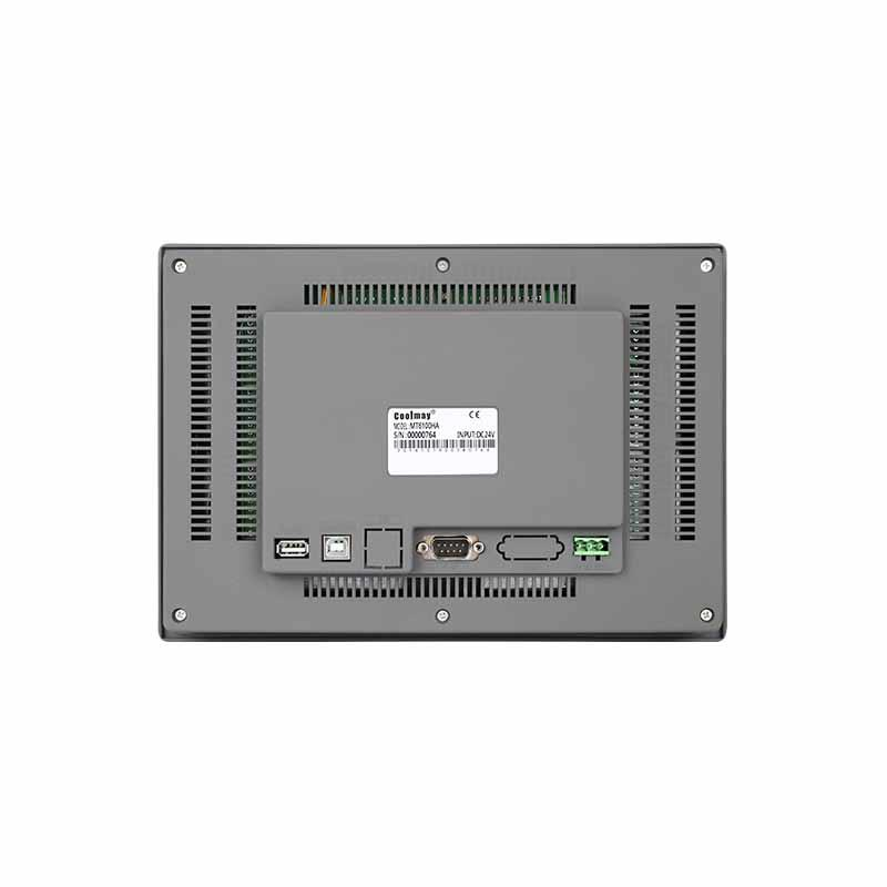 Coolmay HMI Touch Screen MT6100HA support Modbus with RS232/RS485 port(Thin Human Machine Interaction)