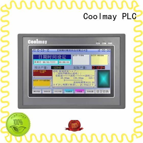touchscreen PLC with HMI color for textile machinery Coolmay