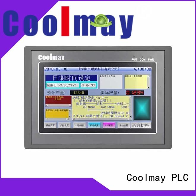 Coolmay allinone hmi control panel solutions for textile machinery
