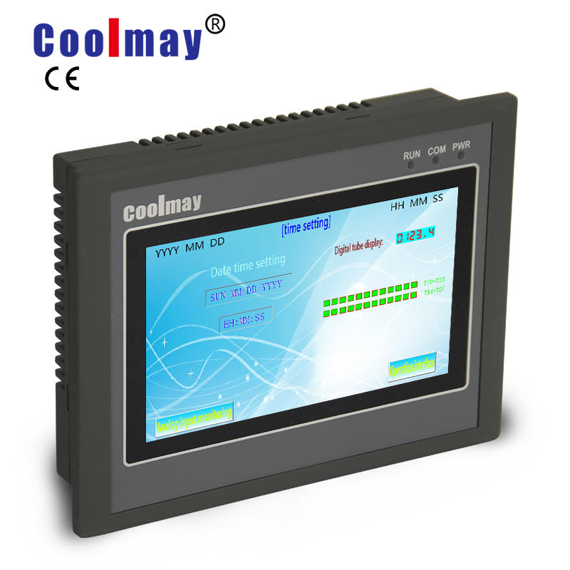 EX3G 4.3'' 5'' 7'' and 10.2'' hmi touch panel with plc i/o all in one