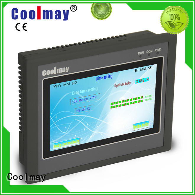 Coolmay hmi programming factory directly for textile machinery
